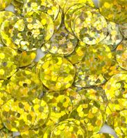 Sequins - Holographique - jaune/or