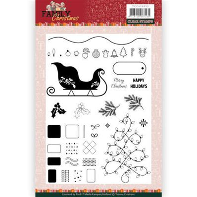 Clear stamp - Family Christmas -