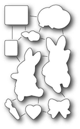 Die - Open studio - Birthday Bunnies Set