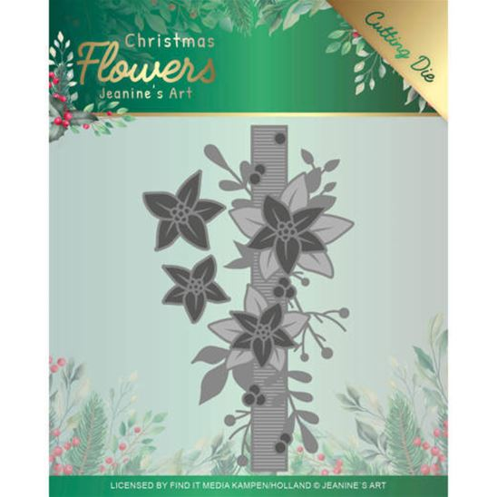 Die - Christmas Flowers - Poinsettia border