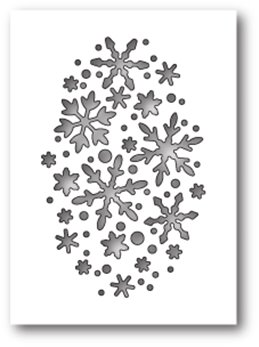 Die - Snowflake Oval Collage