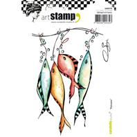 Cling stamp - Poissons