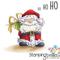Stamp - Bella's Exclusive Images - Santa has a Prezzie