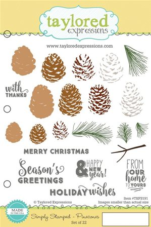 Cling Stamps - Pinecones