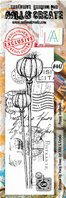 Clear stamp-Border-#447-Poppy Seedheads