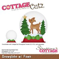 Cottage Cutz - Snowglobe with Fawn
