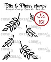 Crealies Clear Stamp - mini leaves 8