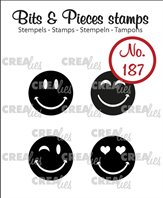 Crealies Clear Stamp - Happy Faces (solid)