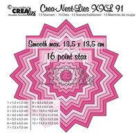 Crea-Nest-Lies- XXL - 16 pointes star