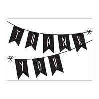 Classeur de gaufrage - Thank you Banner