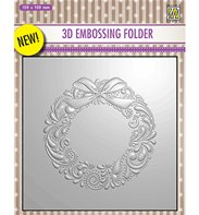 3D Embossing Folder - Wreath