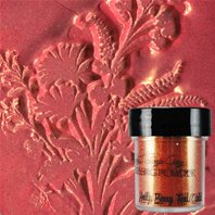 Embossing Powder - Holly Berry Red Gold