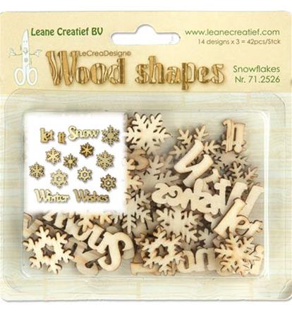 Wood Shape - Snowflakes