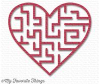Heart Maze Shape - Wild Cherry