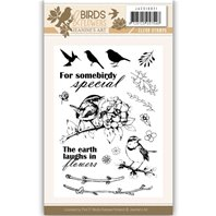 Clear stamp - Birds and Flowers