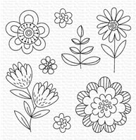 Clear Stamps - Fun Flowers
