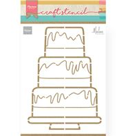 Craft stencil - Party Cake