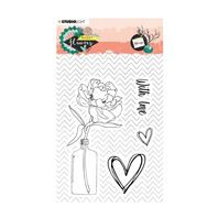 Clear stamp - Sweet Flowers - With love