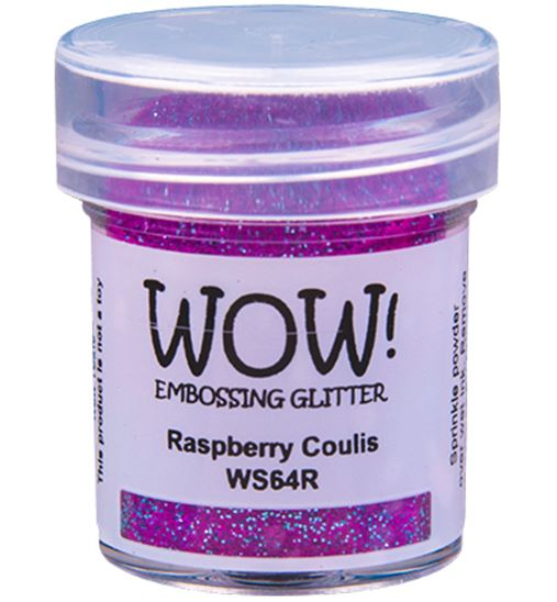 Wow! Embossing Powder Glitter - Raspberry Coulis