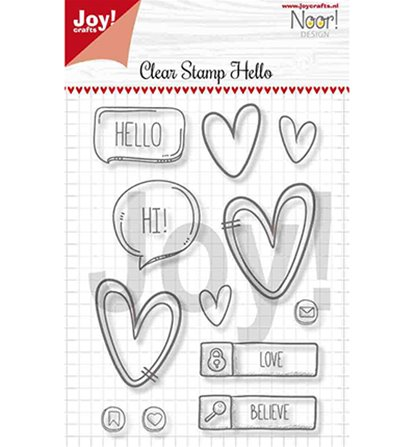 Clear stamp - Hello