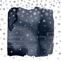 Papier - Abstract Watercolours - Snow flakes dark blue