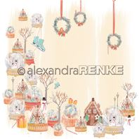 Papier - Xmas - Snowballs with wreaths