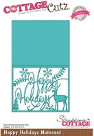 Cottage Cutz - Happy Holidays Notecard