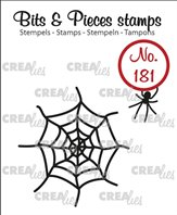 Crealies Clear Stamp - Spider & Web