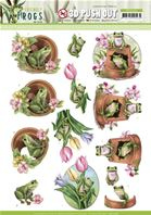 Papier 3D - Friendly Frogs - Flower frogs