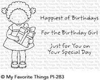 Clear Stamps - For the Birthday Girl